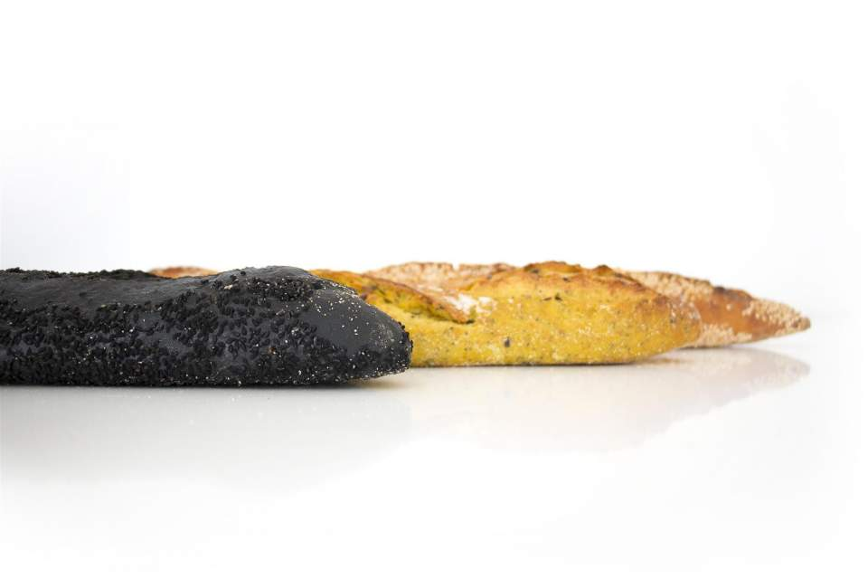 black, yellow and classic baguettes